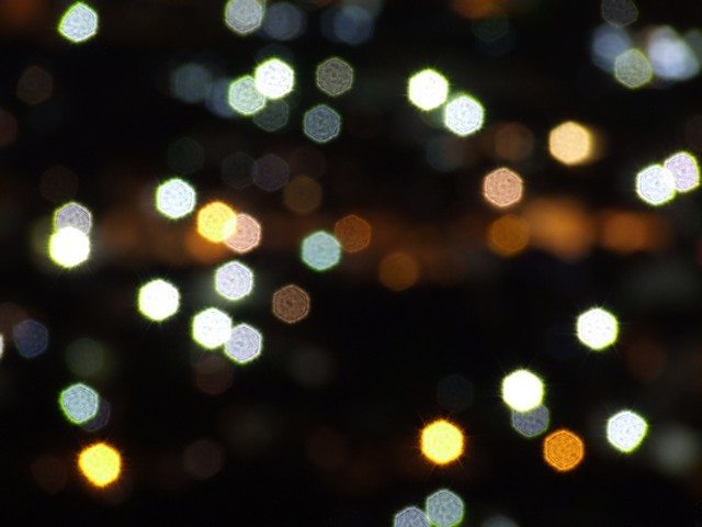 Abstract bokeh city lights
